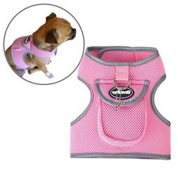 BingPet Vest Mesh Harness Dog Pet Reflective Treat Pocket Bo