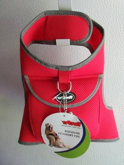 BingPet Vest Mesh Harness Dog Pet Red Large Reflective Treat