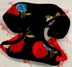 XS Colorful Floral Dog Puppy Harness TOP PAW